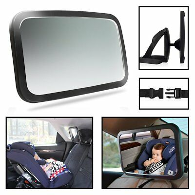 Car Back Seat Baby Safety Mirror 360 Degree Adjustable Baby Rearview Infants MA