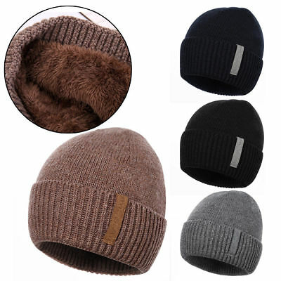 623ca2af6a884d Mens Women Warm Winter Thermal Insulated Knit Ski Beanie Skull Slouch Cap  Hat