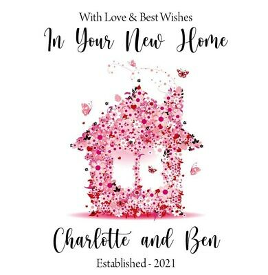 """Handmade Personalised 6"""" Square New Home Card"""