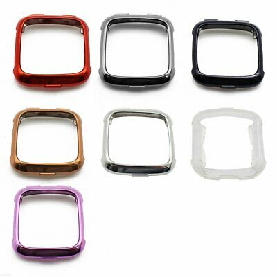 Soft TPU Silicone Protective Shell Frame Cover Case Protector For Fitbit Versa #