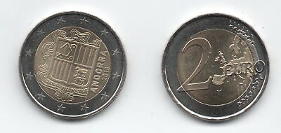 Andorra 2 € Euro NEW circulation coin 2018 uncirculated