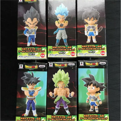 Dragon Ball Super Brolry The Movie World Collectable Figure WCF Vol.3 6 Set