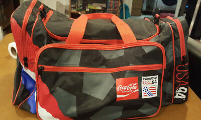Cola Coke Soccer Football Sport Duffle Bag Soda Travel Gym World Cup USA 1994
