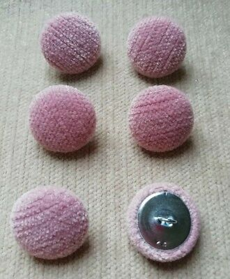 Pink Chenille 45L//28mm Quartz Upholstery Fabric Covered Buttons