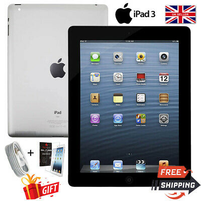 Apple ipad 3 16 32 64gb wifi 4G 9 7in unlocked black White grades Cellular 3rd