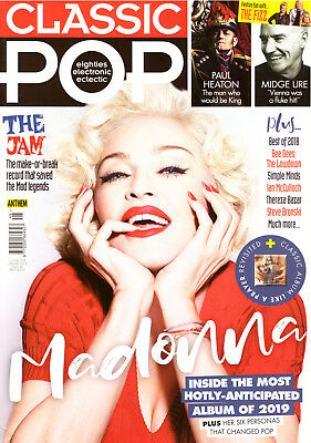 Madonna front cover Classic Pop (UK) magazine January 2019