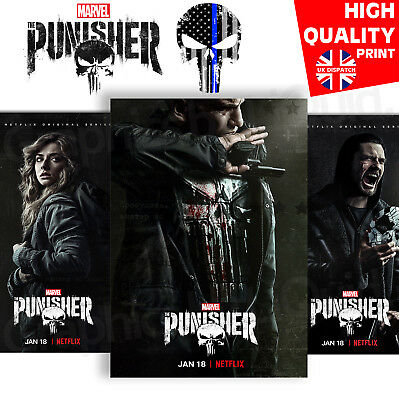 THE PUNISHER Season 2 TV Show Character POSTERS Jon Bernthal | A4 A3 A2 A1