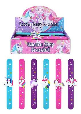 UNICORN Slap Band Slap Bands Snap Band Bracelet Wristband Girls Party Bag Filler