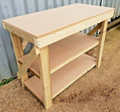 SALE!!! 18mm MDF Wooden Workbench -3Ft to 6Ft- Strong Heavy Duty