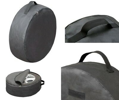 Black Spare Tyre Cover Wheel Storage Bag For Wheel Size Car Van R14 15 16 17 XXL