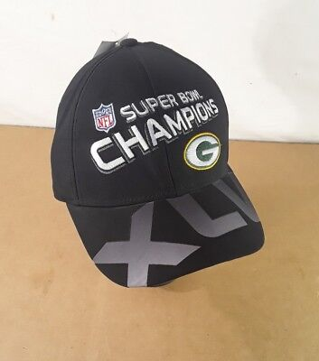 Greenbay Packers Reebok Hat Cap Super Bowl XLV Champs Logo NFL Brand New c2ced1028