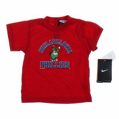 NIKE Baby Boys Shirt, size 3 mo,  red,  cotton, polyester