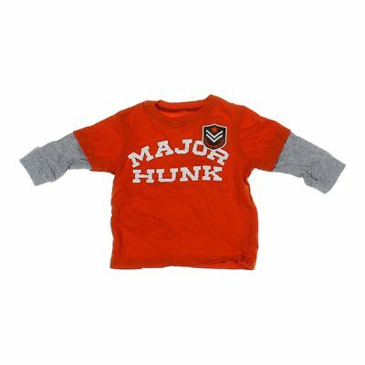 Carter's Baby Boys Mock Layered Shirt, size 9 mo,  red,  cotton