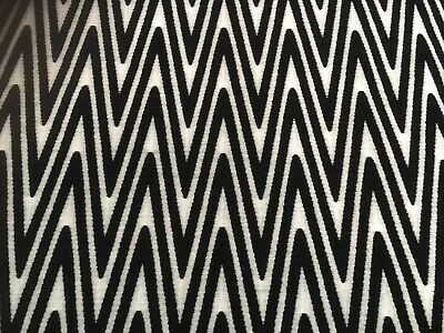 Designer - Imatex Zig Zag Black / White Fabric Upholstery Heavy Fabric £9.99 P/m