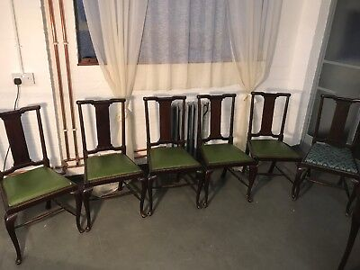 Set 6 Stunning Mahogany Antique Edwardian/victorian Dining Chairs
