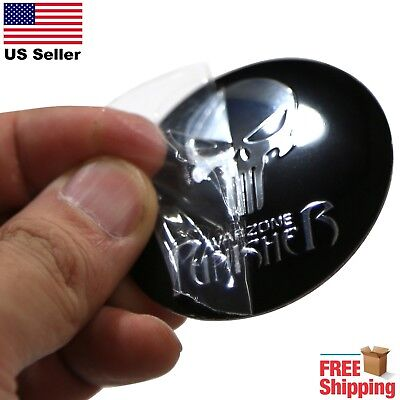 DOME SHAPE 3D Metal Warzone Punisher Auto Sticker Decal Emblem 2.20""