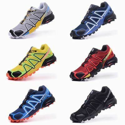 New Men's Salomon Speedcross 4 Athletic Sneakers Running Outdoor Hiking Shoes