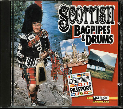 Scottish Bagpipes & Drums by Various Artists (CD, 1994, LaserLight Digital)