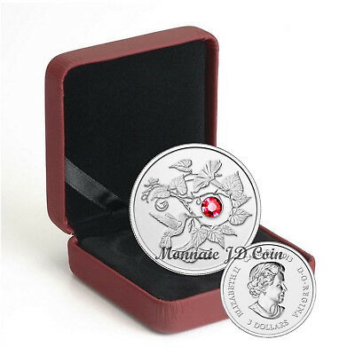 2013 Canada $3 Coin Hummingbird With Morning Glory Pure Silver Exempt Tax