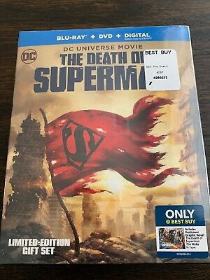 The Death of Superman (Blu-ray/DVD, 2018, Limited Edition Gift..) FACTORY SEALED