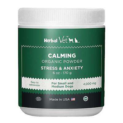 Herbal Vet Pet Calming Powder for Stress & Anxiety Relief, Hemp Seed, Chamomile