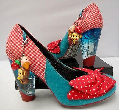 Womens IRREGULAR CHOICE Trinkletina Perspex Heels Shoes Size 39 US Size 8  NICE adaa38e3f8