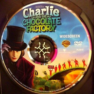 Charlie and the Chocolate Factory (DVD, 2005, Widescreen) Disc Only! No case.