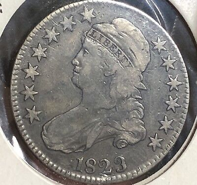 1823 Ugly 3 Variety Capped Bust Half Dollar Rare Scarce .50 Coin .900 Silver $