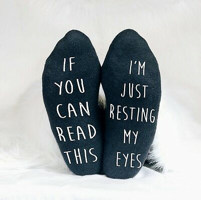 Just Resting My Eyes If You Can Read This Funny Men's Socks Sleep Sofa TV Dad