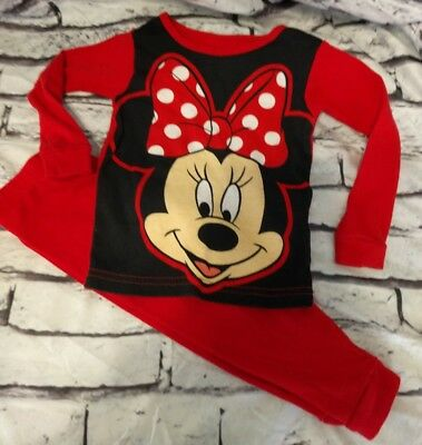 b0871cd32 MINNIE MOUSE RED 2 Pc Fleece Pajama Set 12 Months -  7.00