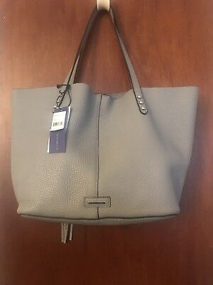 35660a3a5 NWT REBECCA Minkoff Medium Leather Unlined Tote W/ Dome Studs *free ...