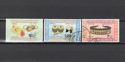 1982 Thailand Stamp Thai Musical Instruments 3 Stamps Used Sc# 1009, 1011, 1014