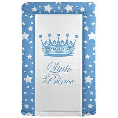 Deluxe Baby Boy Waterproof Changing Mat Little Prince Crown & Stars Blue Nursery