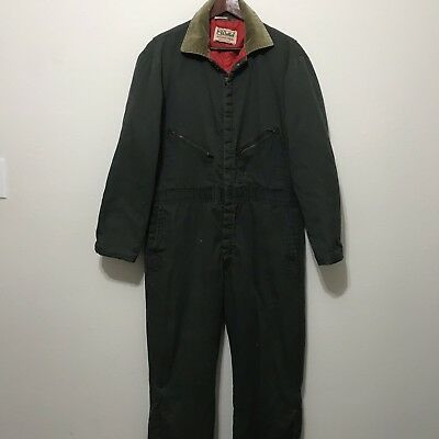WALLS vintage BLIZZARD PRUF COVERALLS Large Men's insulated Work Overalls 42-44