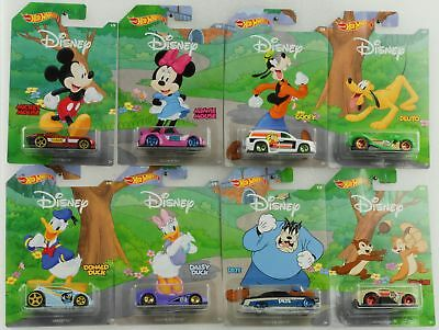 Disney series Pluto Pete Mickey Goofy  Donald Daisy Set  8 pcs 1:64 Hot Wheels