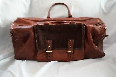Ultra Rare Lucchese Leather Weekender New Old Stock