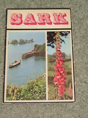 Channel Islands: Vintage 1968 Map & Guide to the island of Sark