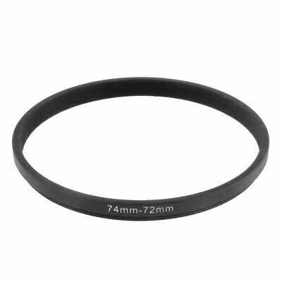 74mm-72mm 74mm to 72mm Black Step Down Ring Adapter for Camera