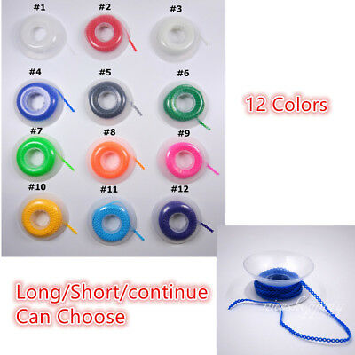 Dental Ortho Elastic Ultra Power Chain Rubber Band Long/Short/Continuous 12Color