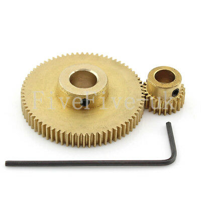 0.5M72-24T Module 0.5 Motor Metal Gear Wheel Set Kit Ratio 3:1 Wheelbase 24mm