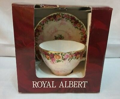 2002 Royal Albert Old Country Roses Peach Damask Tea cup & Saucer New in Box