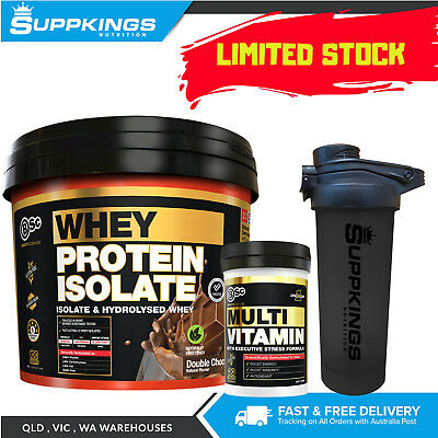 BSC WPI Whey Protein Isolate 3kg + BSC Multi Vitamin 30 Tablets+FREE BSC Shaker