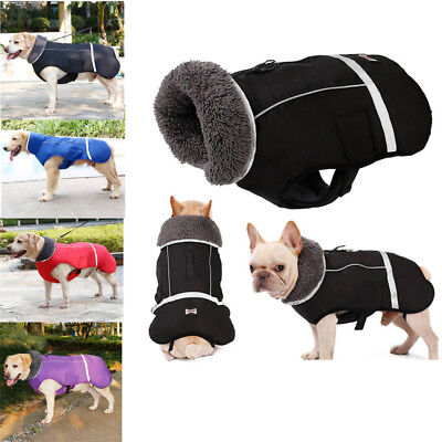 Winter Waterproof Outdoor Pet Dog Jacket Reflective Thicken Warm Coat Clothes AU