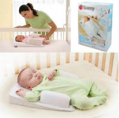Baby Sleep Cushion Infant Newborn Anti Roll Pillow Prevent Flat Head Cushion US