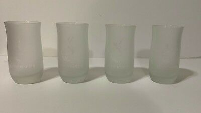 4 Remy Martin Fine Champagne Cognac Frosted Glasses 4.5 in. Tall