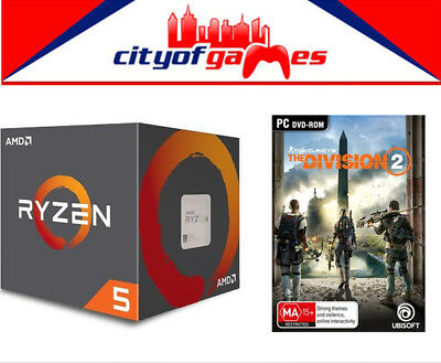 AMD Ryzen 5 2400G, 4 Core AM4 CPU With Free Tom Clancy's The Division 2 PC