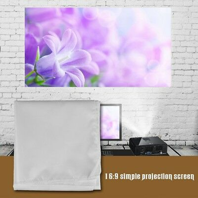 "72'' 84'' 100'' 120"" 150"" 16:9 Foldable Projector Screen Theater Projection Lot"