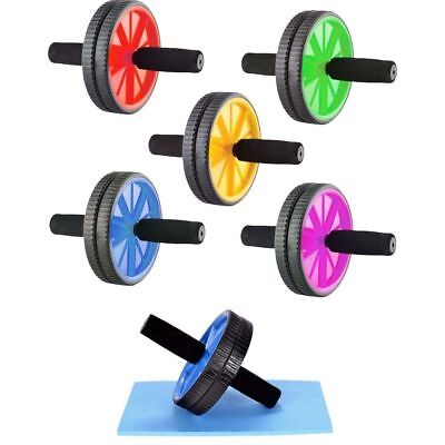 Dual Ab Wheel Roller Abdominal Exercise Abs Training Workout GYM Equipment