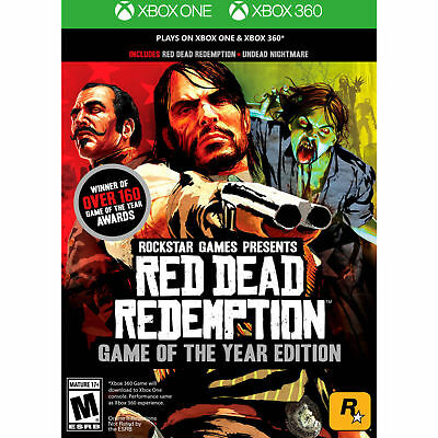 New & Sealed Red Dead Redemption Game Of The Year Edition Xbox One And Xbox 360