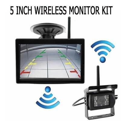 """Wireless Rear View Back up Night Vision System camera +5"""" Monitor for RV Truck"""